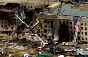 Рейс 77 American Airlines врезался в Пентагон